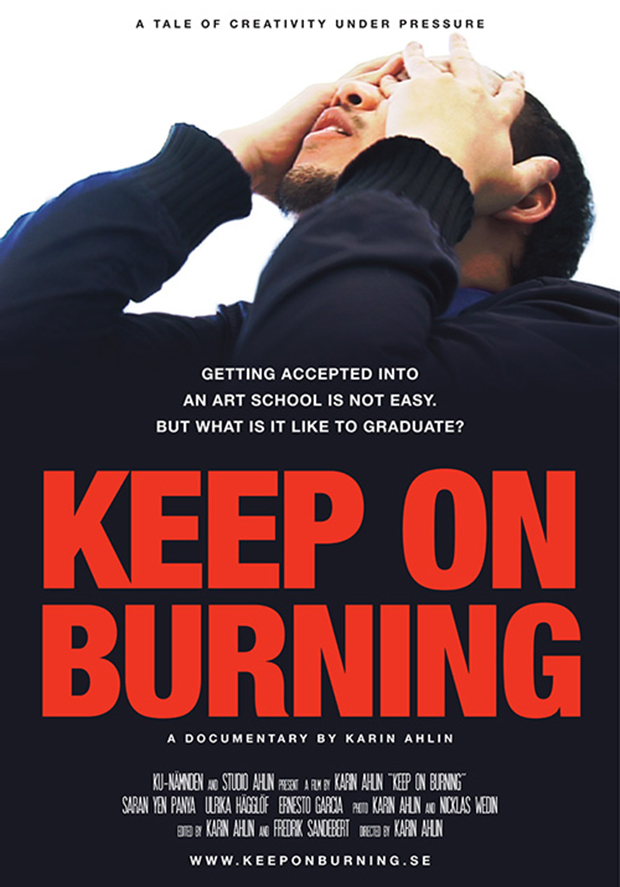 Film poster for the documentary film Keep on Burning.