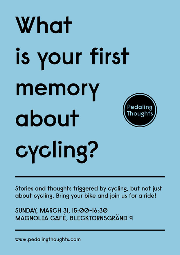 Pedaling Thoughts Poster